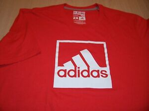 ADIDAS CLIMALITE SHORT SLEEVE RED T-SHIRT MENS 2XL EXCELLENT CONDITION