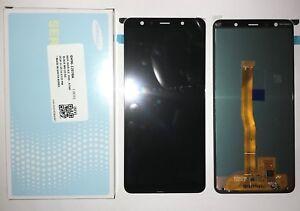 DISPLAY LCD + TOUCH SCREEN ORIGINALE SAMSUNG GALAXY A7 2018 A750F SM-A750F NERO