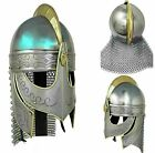 Medieval Helmet Norman Viking Helmet with Chain mail Knight Battle Armor Helmet