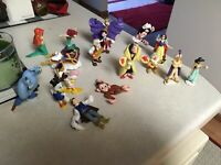 Vintage Mixed Lot Rubber Disney Figurines Mixed Lot