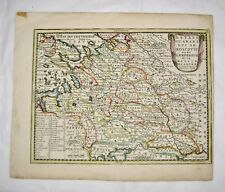 Original Hand Coloured Map of Russia Blanche  Duc De Moscovie Chiquet 1719