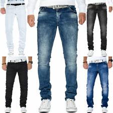 Cipo & Baxx Herren Slim-Fit Jeans Freizeit Hose Denim Streetwear