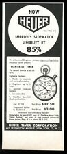1960 Tag Heuer Giant Rally Timer stop watch vintage print ad