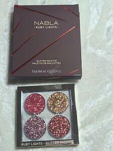 Trendmood Nabla Ruby Lights Glitter Palette Eyeshadow Pigment 4 pan quad