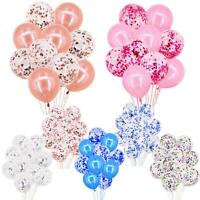 "10 Pcs Confetti Balloons Latex 12"" Decorations Helium Birthday Party Wedding"
