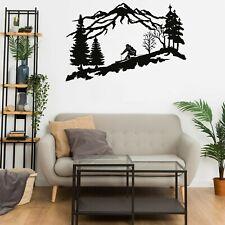 Metal Wall Decor Metal Skier Wall Art Mountain and Trees Wall Art Ski Lover 5323