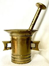 """New listing Vintage Solid Brass Pestle Mortar Apothecary Pharmacy 4"""" Tall"""