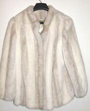 Faux Chinchilla Fur Dress Jacket