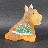 Bronze Satin CHRISTMAS TREE DUKE SCOTTIE Boyd's Crystal Art Glass 2008 Signed