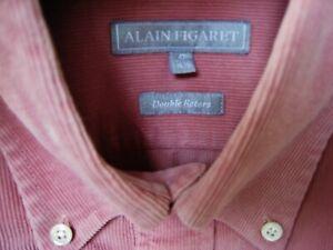CHEMISE VELOURS MILLERAIES BUVARD DOUBLE RETORS Taille 42-16,5 ALAIN FIGARET(XL)