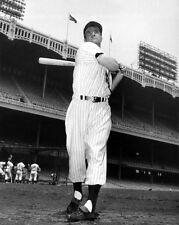 1951 New York Yankees HANK BAUER Glossy 8x10 Photo @ Yankees Stadium Poster