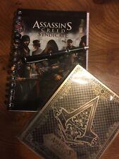 Rare Promo Assassins Creed sindicato cuaderno y pluma con STEELBOOK