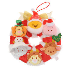 NWT Japan Disney Authentic Winnie the Pooh Collection Christmas Tsum Tsum Wreath