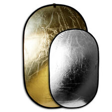 """Zykkor 44"""" x 72"""" 2 in 1 Light Multi Photo Collapsible Reflector gold silver"""