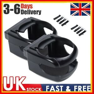 2 X Universal Clip-on Cup Holder For Car Van Air Vent Holds Bottle Can Drink -UK