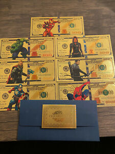 Avengers Gold Currency With Envelope And Certificate