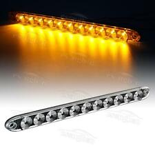 "Trailer Truck Amber 11 LED 15"" Turn Signal Clearance Marker light Bar Clear Lens"