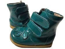 EUC Livie & Luca Shoes Boots Floret Aqua Blue Toddler 5