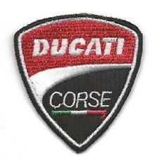 DUCATI CORSE Aufnäher Patch neues Logo für Jacke Hose etc NEU !!