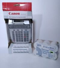 Canon Printing Calculator + 6 Rolls Thermal Paper! Brand New! P23-Dhv Taxes.