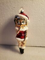 Vintage Betty Boop Glass Christmas Ornament Made In Poland