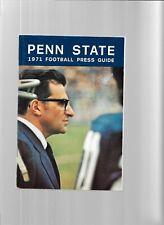 1971 Penn State Football Press Guide---Joe Paterno