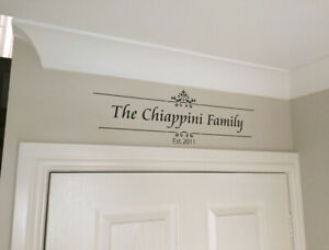 Family name established wall sticker