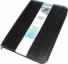 New, Padfolio Organizer, Leather-like w/ paper included, Black