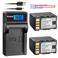 Kastar Battery LCD Charger for JVC BN-VF823 & GZ-MG131 GZ-MG131EK GZ-MG131EX