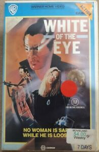 White of the Eye VHS PAL Rated M Approx 111 mins Color Warner Bros. Cannon.