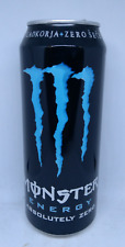 EMPTY Monster Absolute Zero Energy Drink Can; 500 mL; TOP Croatian/Slovenian Ed.
