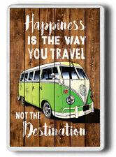 Happiness Camper Van fridge Magnet,Happiness is the way travel,Jumbo size Magnet