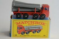 Matchbox Lesney No 10 Pipe Truck - Made In England - Boxed - (B16)