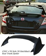 FOR 17-18 Honda Civic Hatchback Type R Style Rear Hatch Spoiler Wing ABS Black