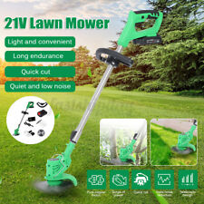 650W 21V Electric Cordless Lawn Mower Rechargeable Lawnmower Strimmer Trimmer