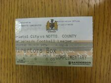 26/10/1996 Ticket: Bristol City v Notts County [Directors Box] . Bobfrankandelvi