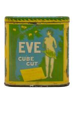 "Rare 1910s ""Eve"" litho hinged pocket tobacco tin in good condition."