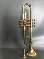 Super Selmer Stirling London Trumpet Vintage Brass Silver Finish Rare Model