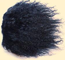 "Black Tibetan Lamb Mohair for Doll Wigs 4x4"" Mongolian Curly Fur Hair Rerooting"