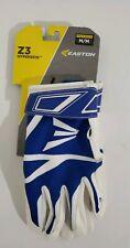 Brand New Easton Z3 Hyperskin Batting Gloves Adult Medium White/Blue