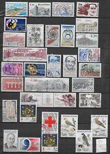France postage stamps 1983-84 32v vgc used