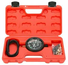 Fuel Pump Vacuum Tester Carburetor Valve Pressure Tester Gauge Kit Car Truck LM