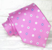 Cravatta uomo rosa jacquard Made in Italy 100% seta business matrimoni