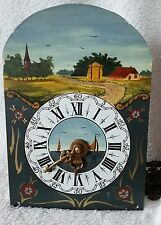 Hermle Wall Clock Movement & Dial 1968 Chains Hand Painted Friese Clock