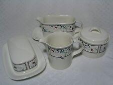 Mikasa Annette Creamer, Sugar Bowl, Gravy Boat, Butter Dish CAC20