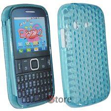 Cover Custodia Per SAMSUNG Chat Ch@t Dual Sim E2222 Silicone Azzurro Gel TPU