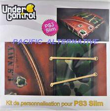 Skin autocollant UNDER CONTROL militaire playstation 3 PS3 slim custom sticker