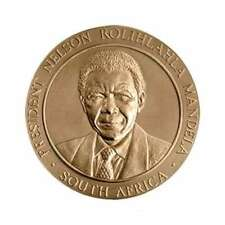 "USA MEDAL BU ""PRESIDENT NELSON ROLIHLAHLA MANDELA SOUTH AFRICA"" DEDICATED HIS LI"