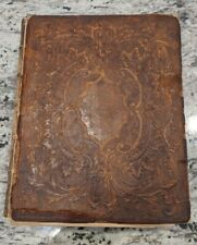 Vintage 1857 The Holy Bible New York American Bible Society