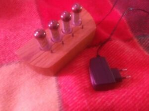 Iv-11 Neon Nixie Clock Hand Made Wood Stand